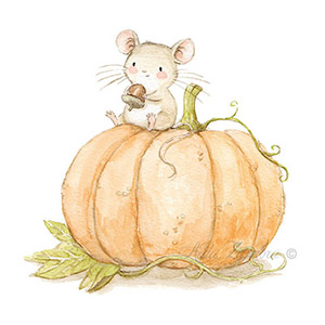 Children illustration pumpkin halloween