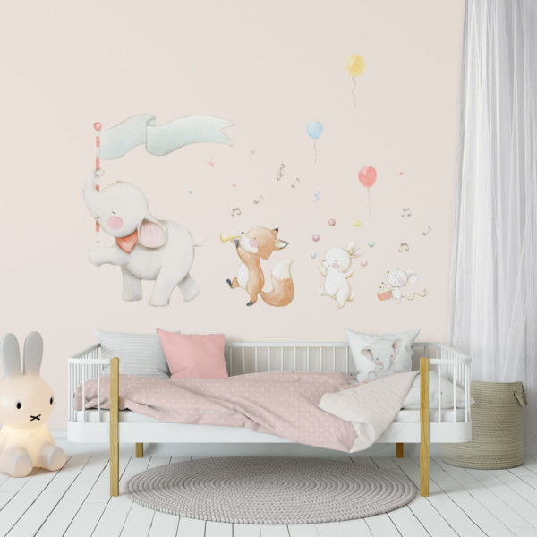 Circus with elephant fabric wall decal