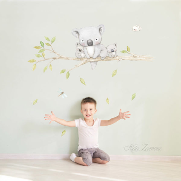 Koalas Family fabric wall decal