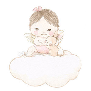 Nursery illustration baby cloud