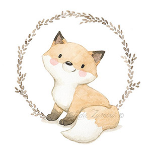 Nursery illustrations Fox