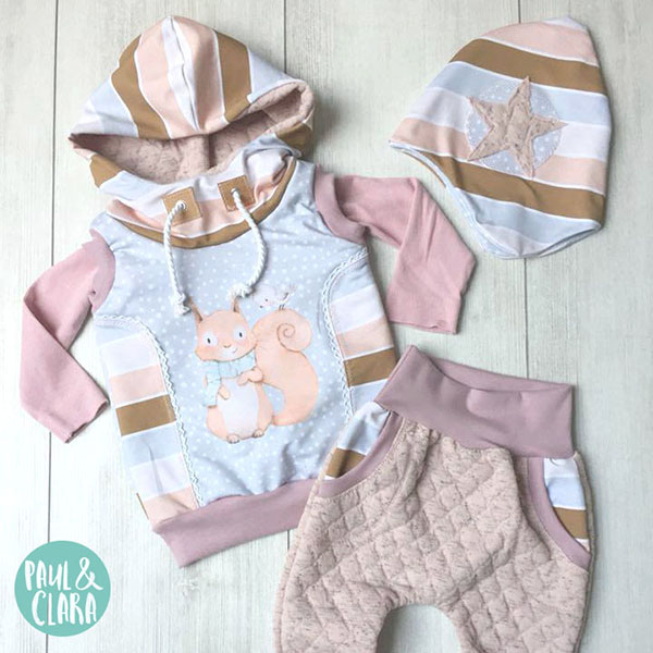 Personalized nursery illustrations for clothing