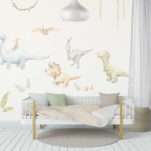 Vinilo infantil de tela Dinosaurios 5