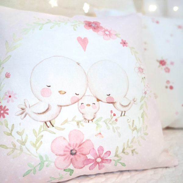 Birdies nursery pillow