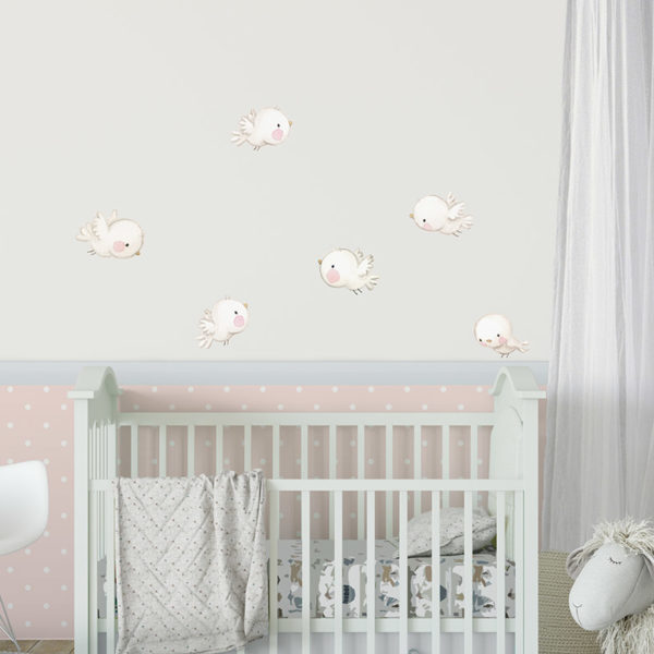 Birds fabric wall decal