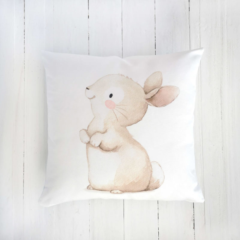 Bunny nursery pillow