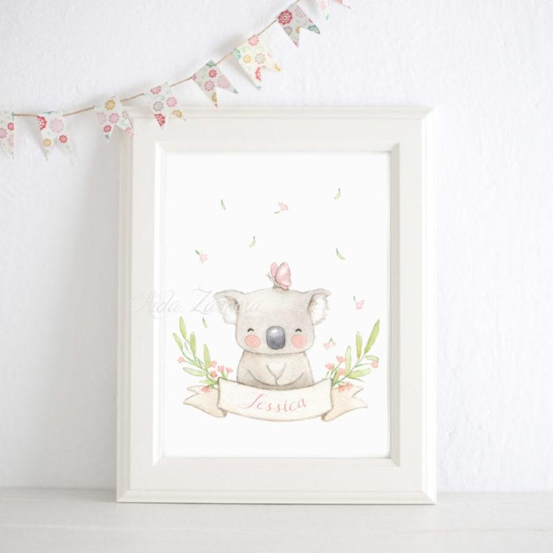Cuadro infantil Koala