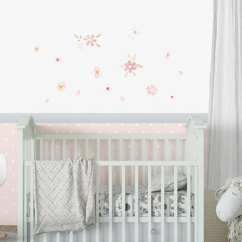 Flowers fabric wall decal