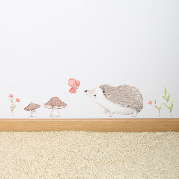 Hedgehogs fabric wall decal