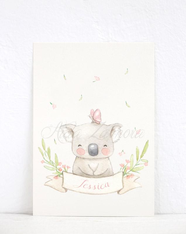 Lámina infantil Koala