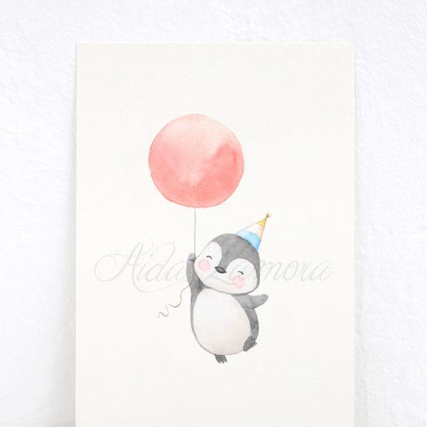 Lámina infantil Pingüino Circo