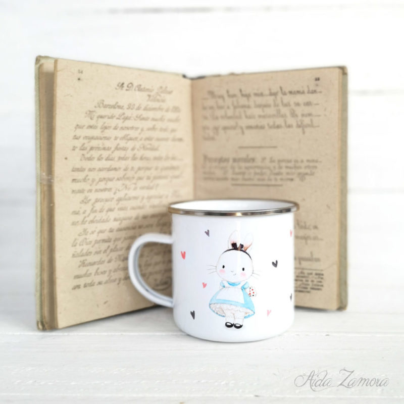 Metalic Mug Alice in Wonderland