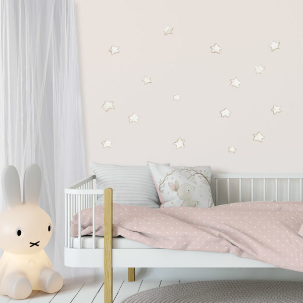 White Stars fabric wall decal